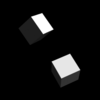 大域的・局所的に回転するボックス