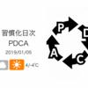 この「習慣化日次PDCA」を開始して丸1年に到達![習慣化日次PDCA 2019/01/05]