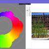 画像の色相をバブルチャート風に表示するアプリ