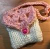 ちびっこの編み物~ポシェット