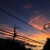 夕刻の空模様