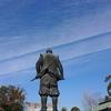 【大阪城公園 梅林】冬と春 一進一退の空を秀吉っさんと眺むる【豊國神社】