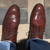 宮城興業の和創良靴:コードバンの初履き。履き心地と皺入れについて