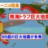 【エルニーニョ監視速報】『エルニーニョ現象』の発生中に巨大地震が発生!?気象庁は『エルニーニョ現象』は今後夏にかけて続く可能性が高いと発表!『環太平洋対角線の法則』の発動で『南海トラフ地震』などの巨大地震に要警戒!!