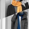 鮮やかな色のマフラーで一歩上のおしゃれになろう!UNIQLO Uのマフラーで着こなしを紹介
