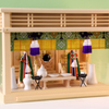 ガラス箱宮18号三社の祭り例 幅1尺8寸サイズの箱型神棚