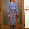 大人がGUで買うならチェックのイングランド風タイトスカート