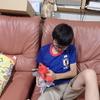 九龍は午後から夏期講習に行き、夕方からはスイミング・スクールに行きました。