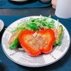 フォトジェニック料理!ピーマンとパプリカの肉詰めで映え効果♡
