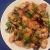 鶏むね肉とナスとピーマンの甘酢炒め。レシピ。
