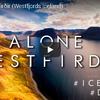 ドローンで眺める西部アイスランドのフィヨルド