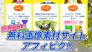 【アフィピク レビュー】無料画像素材サイトなのに運営者がアフィリエイター!?画像加工マニュアルなど無料特典も豊富でした!