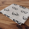 【セリア】シックな色のメガネ柄。手ぬぐいを買いました