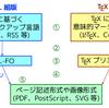 XML 組版と TeX 組版の間の関係