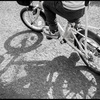 自転車のれた 日曜日 はれ