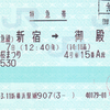 JR東海  新横浜駅発行 「御殿場桜まつり号」特急券