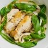 鶏バジルうどんのレシピ