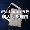 iPad mini 5を購入した理由