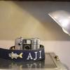 手刺繍を施した生地をご持参でカメラスストラップのオーダーメイド