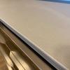 アヤノPS(プロージット)実例 【家電収納+フラップ扉・天板新色グレイレザー調】