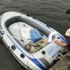 大人の冒険 印旛沼から新川を手漕ぎボートでくだってきた。水面をゆらゆらまったり楽しい体験。