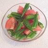 【糖質制限レシピ】トマトとオクラの亜麻仁油和え☆