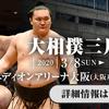 大丈夫なのかな? 3月8日開催大相撲大阪場所