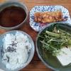 水菜の湯豆腐と卵焼きと味噌汁