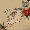 うさぎと沈丁花のデザイン