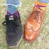 【新しい靴】カルミナフルブローグ(ブラウン)とハッピーソックス