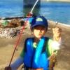 釣り、釣れた「少年T」