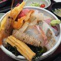 所沢卸売市場内の定食や。海鮮丼など新鮮で美味しい!