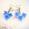 新作☆【濃青B】揺れる紫陽花とリボンのピアス/イヤリング