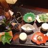 2歳子連れのGo Toトラベル 熱海ふふ 夕食(日本料理) 個室でゆっくりとコース料理を楽しめました! あさつゆ・紫鈴をグラスでも楽しめます!!