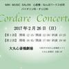 バイオリン・チェロ発表会 Cordare Concertoのお知らせ