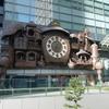 東京汐留『宮崎駿デザインの日テレ大時計とゆりかもめ』