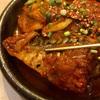 中区福富町西通の「李さんの台所」で韓国風サバ煮込み定食