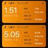 朝RUN NBU 5km+ダウンJOG1.5km