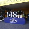 全英オープン練習日観戦の後、併設の「ベル・テント」へ