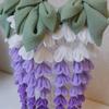 【簪/かんざし】つまみ細工で作った藤の髪飾り(舞台用)