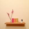 【トイレの小棚】小さな空間でもインテリアを楽しみたい〜3月は春の匂い〜
