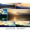 安曇野、北アルプス×夕焼けの絶景写真を紹介するよ。