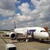 ポーランド航空のスナック・ドリンクのセルフサービスが楽しい♪