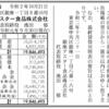 銀座アスター株式会社 第66期決算公告 / 減少公告