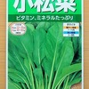 LED育苗器を使って小松菜の苗を栽培中。限られた面積で効率良く育てる実験中です