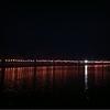 大川、桜並木の昨夜