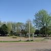 バス停から新緑の眺め!
