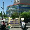 5月17日、ホーム柵設置の署名活動をしました。