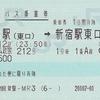 ドリーム政宗212号 バス乗車券