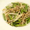 下町中華風ニンニクの芽と豚こまの炒め物